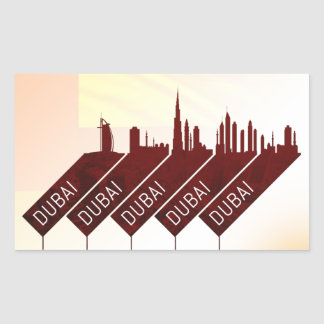 Adesivo Retangular Estilo do viagem da cidade de Dubai