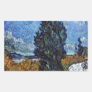 Adesivo Retangular Estrada secundária de Vincent van Gogh em Provence