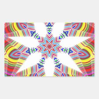Adesivo Retangular Estrela colorida