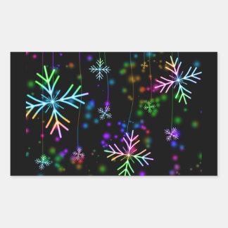 Adesivo Retangular Estrela da neve