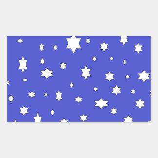 Adesivo Retangular estrelado-nite