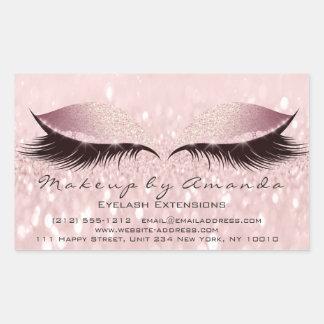 Adesivo Retangular Estúdio da beleza do maquilhador do rosa da