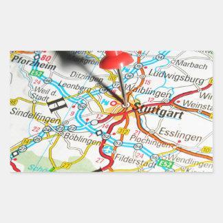 Adesivo Retangular Estugarda, Alemanha