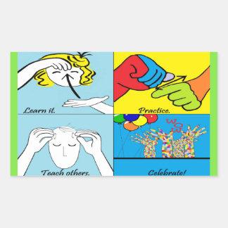 Adesivo Retangular Etapas do ASL quatro ao sucesso