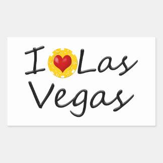 Adesivo Retangular Eu amo Las Vegas