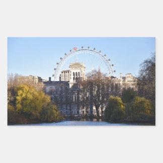 Adesivo Retangular Eu amo Londres!