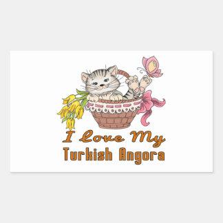 Adesivo Retangular Eu amo meu angora turco