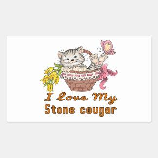 Adesivo Retangular Eu amo meu puma de pedra