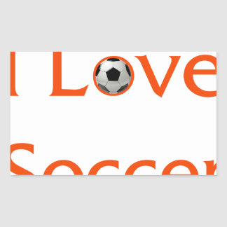 Adesivo Retangular Eu amo o futebol