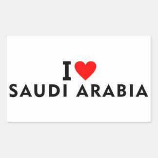 Adesivo Retangular Eu amo o país de Arábia Saudita como a excursão do