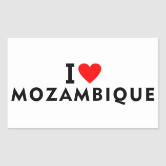 Adesivo Retangular Eu amo o país de Mozambique como touris do viagem