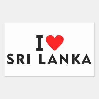 Adesivo Retangular Eu amo o país de Sri Lanka como o turismo do