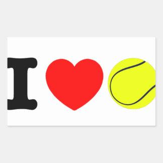 Adesivo Retangular Eu amo o tênis