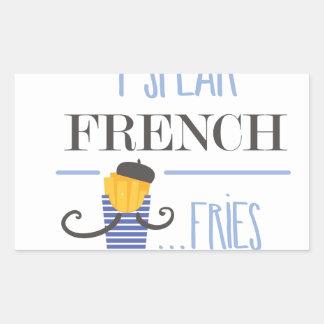 Adesivo Retangular Eu falo o francês… Fritadas