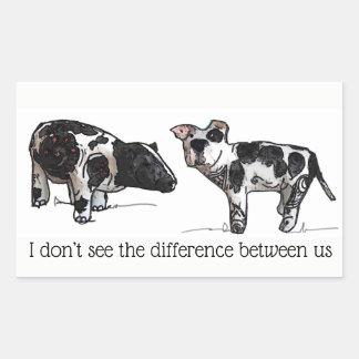 Adesivo Retangular Eu não ver a diferença entre nós