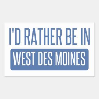 Adesivo Retangular Eu preferencialmente estaria em Des Moines