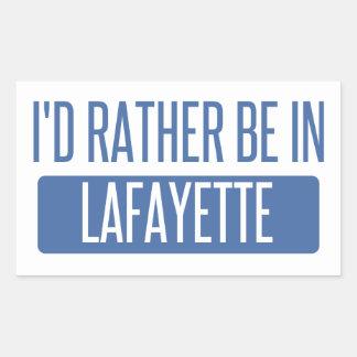 Adesivo Retangular Eu preferencialmente estaria em Lafayette DENTRO