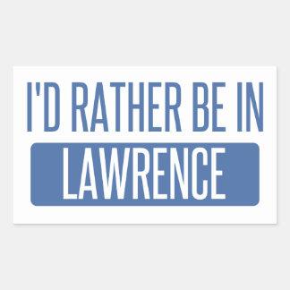 Adesivo Retangular Eu preferencialmente estaria em Lawrence DENTRO