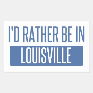 Adesivo Retangular Eu preferencialmente estaria em Louisville