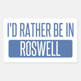 Adesivo Retangular Eu preferencialmente estaria em Roswell nanômetro