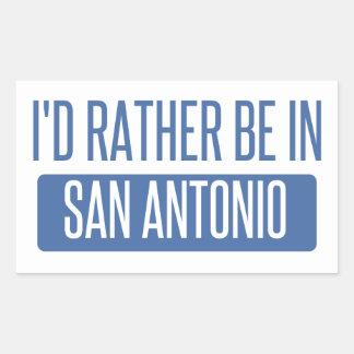 Adesivo Retangular Eu preferencialmente estaria em San Antonio