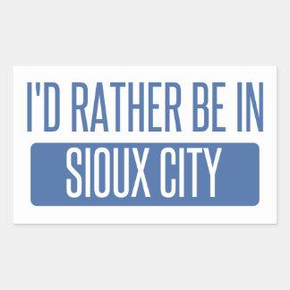 Adesivo Retangular Eu preferencialmente estaria em Sioux City