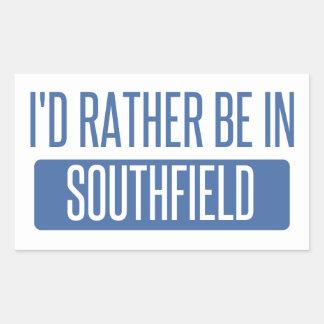 Adesivo Retangular Eu preferencialmente estaria em Southfield