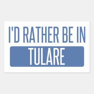 Adesivo Retangular Eu preferencialmente estaria em Tulare