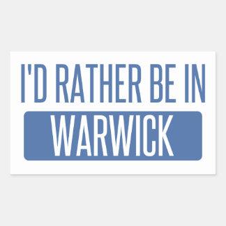 Adesivo Retangular Eu preferencialmente estaria em Warwick