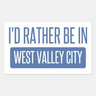 Adesivo Retangular Eu preferencialmente estaria na cidade ocidental