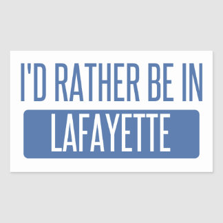 Adesivo Retangular Eu preferencialmente estaria no LA de Lafayette