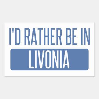 Adesivo Retangular Eu preferencialmente estaria no Livonia