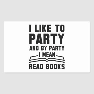 Adesivo Retangular Eu significo livros lidos