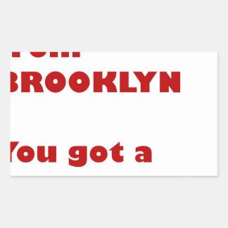 Adesivo Retangular Eu sou de Brooklyn