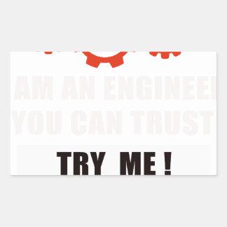 Adesivo Retangular Eu sou um engenheiro que você pode confiar