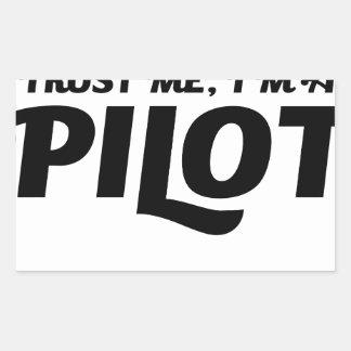 Adesivo Retangular Eu sou um piloto