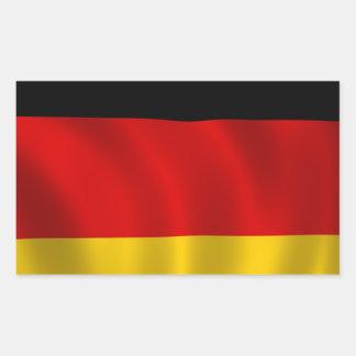 Adesivo Retangular Europeu alemão de Europa do símbolo da bandeira