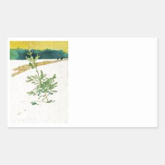 Adesivo Retangular Evergreen na neve