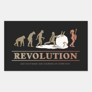 Adesivo Retangular Evolução da revolução do homem das mulheres ID462