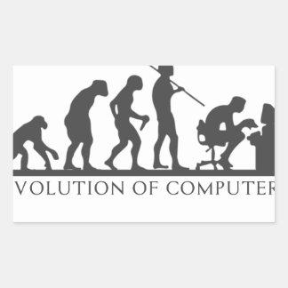 Adesivo Retangular Evolução do COMPUTADOR