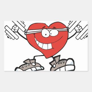 Adesivo Retangular exercício heart2