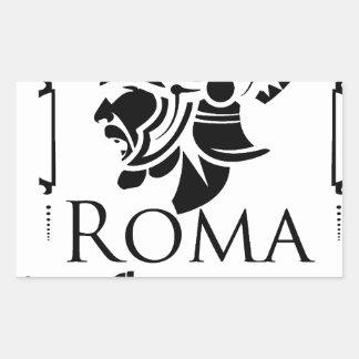 Adesivo Retangular Exército romano - Legionary com Gladio