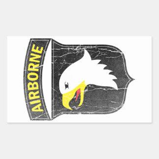 Adesivo Retangular Exército transportado por via aérea 101 Eagle