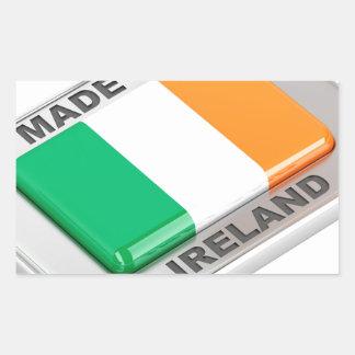 Adesivo Retangular Feito em Ireland
