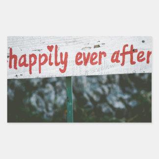 Adesivo Retangular Feliz sempre em seguida
