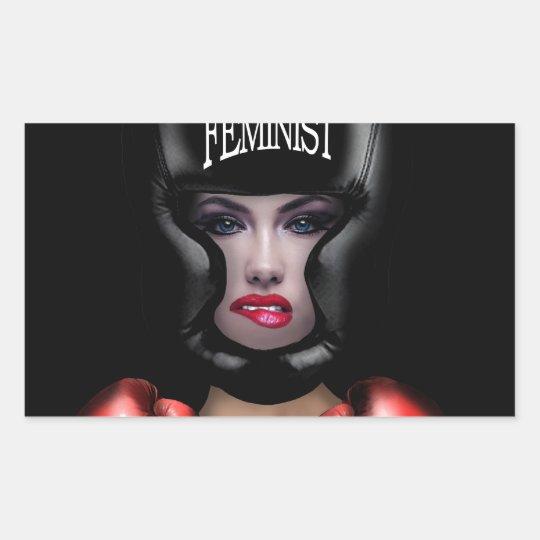 Adesivo Retangular Feminista