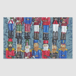 Adesivo Retangular Figuras do natal vintage, soldados idosos