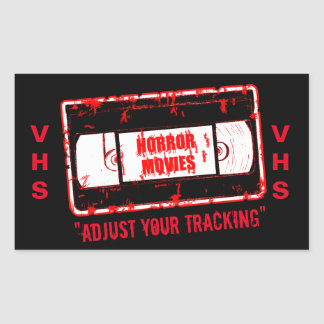 Adesivo Retangular Filmes de terror - ajuste seu seguimento