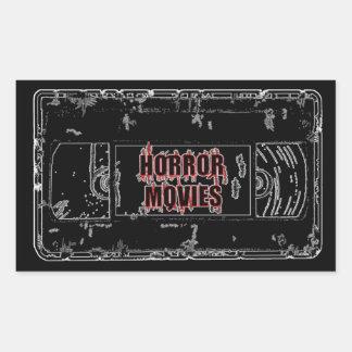 Adesivo Retangular Filmes de terror - preto