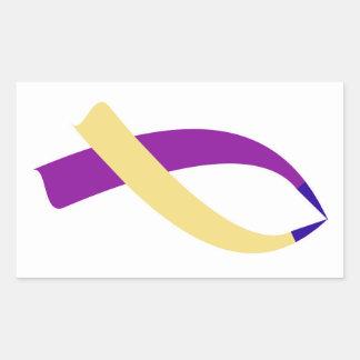 Adesivo Retangular Fita da consciência (cancer de bexiga)